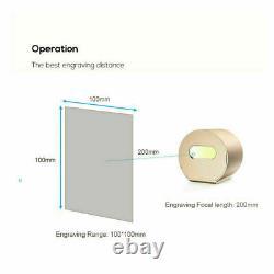 Graveur De Machine À Découper De Gravure Laser 1600mw Diy Desktop Bluetooth