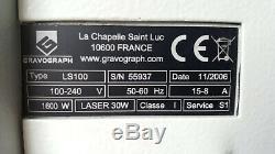 Gravograph Ls100 Gravure Au Laser Et Coupe Avec 400 LX Xbase