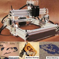 Gravure Laser De Bureau Machine Logo Bricolage Marquage Imprimante Graveuse Coupe 2000mw