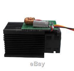 Haute Puissance 5w 5000mw Bleu Module Laser 450nm Pour Le Bricolage Gravure Au Laser Découpe