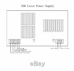 Hq Professional 80w Alimentation Co2 Gravure Au Laser Machine De Découpe 110v