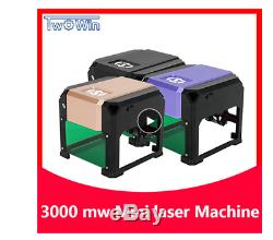 Insma 3000mw Usb Gravure Au Laser Machine De Découpe De Bricolage Logo Imprimante