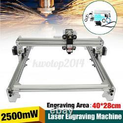 Kit De Découpe Laser Gravure Bricolage De 2500mw 40x28mm En Acier Inoxydable