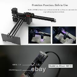 Laser Engraving And Cutting Machine 20w 2 Axis Kit Diy Wood Carving Logo Image