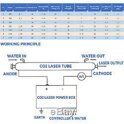 Laser Tube Co2 Laser Tube 80w 1230mm Pour Gravure Laser Et Machine De Coupe