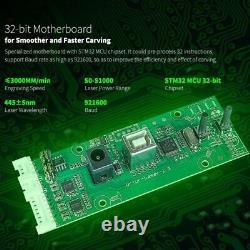 Machine De Coupe De Gravure Laser Avec La Carte Mère 32-bit 7w 15w 20w Vitesses Rapides