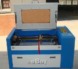 Marque New 60w Co2 Machine De Gravure Laser De Découpe Pivorante Auxiliaire