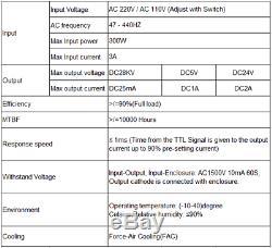 Mcwlaser Myjg 50w Laser Co2 Alimentation Pour Graveuse Coupe 110v / 220v