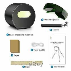 Mini Gravure Au Laser Machine De Découpe Cutter Bricolage Noir Graveuse Trépied Réglable