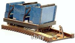 Modèle Détaillé De The Voyage Roller Coaster Train - Track Laser Gravé - Coupe
