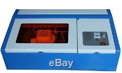 Nouveau 40w Laser Co2 Gravure Au Laser Engraver Clamp Machine De Découpe Laser Tube