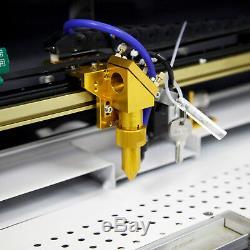 Nouveau! Ruida 60w Gravure Au Laser Et Machine De Coupe Avec Motorisé Tableau 16''x24