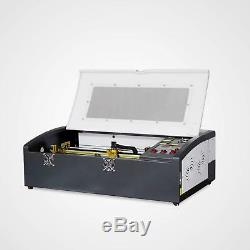 Nouveau! Usb 40w Co2 Laser Gravure & Coupe Machine Le Rail De La Machine 12''x8'