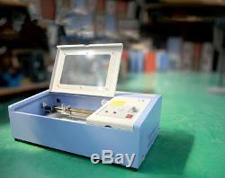 Port Usb 40w Haute Vitesse Mini Laser Co2 Gravure Machine De Découpe Laser Engraver
