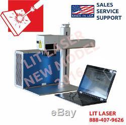 Portable 20watt Laser Marquage / Gravure / Système De Coupe Avec Rotary