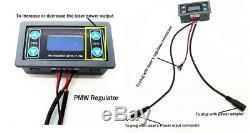 Pwm / Ttl 8w 450nm Focalisable Bleu Module Laser / Graveur De Gravure / Coupe