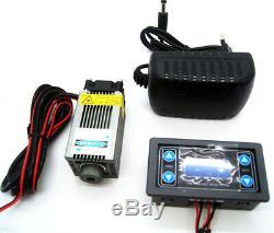 Pwm / Ttl 8w 450nm Focalisable Bleu Module Laser / Graveur De Gravure / Coupe / Marquage
