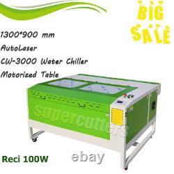 Reci 100w Chiller Co2 Laser Cutting Machine Laser Cutter Graveur 1300 X 900 MM