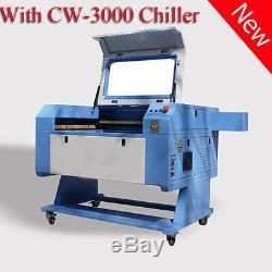 Reci 100w Co2 Gravure Au Laser Et La Machine De Coupe Avec Chiller Port Usb Cw-3000
