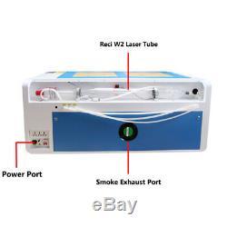 Reci 100w Co2 Gravure Au Laser Machine De Découpe Avec La Fda Cw5000 Chiller Ruida 6445