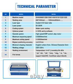 Reci 150w W6 Co2 Découpe Laser Gravure Machine Graveur Laser Graveur1300900mm