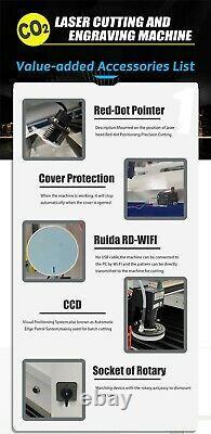 Reci 180w W8 Machine De Découpe Laser Mixte Pour Cutter Laser Métal Et Non Métallique