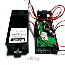 Réglable Coupe Laser Bleu Dot Module De Ttl 12v Graveuse Haute Puissance 450nm 4w