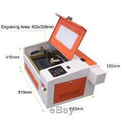 Rte-high 430 50w Gravure De Coupe Laser Co2 Machine Avec Port Usb 110 / 220v