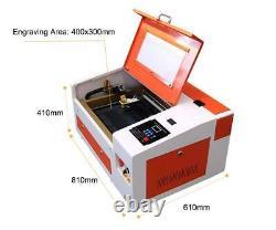 Rte-high Co2 40w 110 / 220v Machine De Gravure Laser De Coupe Avec Port Usb
