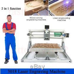 Sculpture En Bois Pcb De Fraisage De Coupe 3018 Set De Gravure Laser Cnc Machine Router