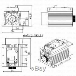 Ttl Et Analogique 12w Laser Tête Gravure Module Marquage Métal Bois Découpe Graveuse