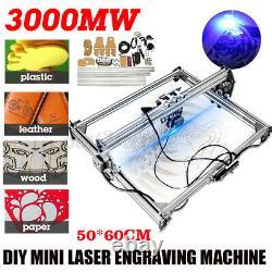 USA 3000mw 65x50cm Laser Gravure Machine De Découpe Graveur Imprimante De Bureau Kit