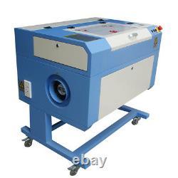 Usb 60w Co2 Laser Gravure Machine De Coupe 500300mm Avec Fixation Rotative